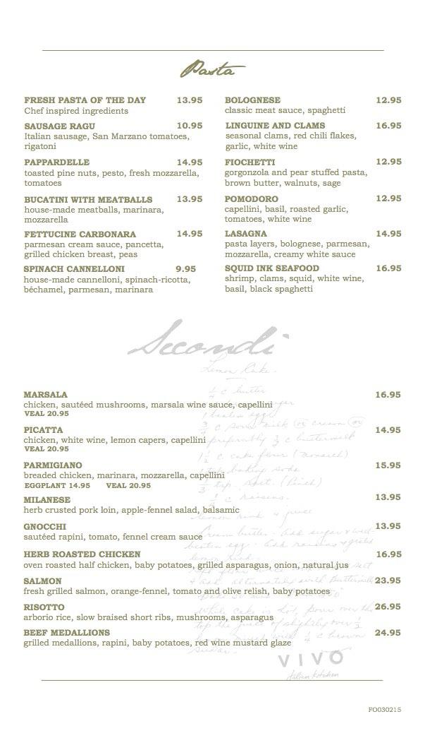 Universal Orlando Resort – Vivo Italian Kitchen | Universal ...