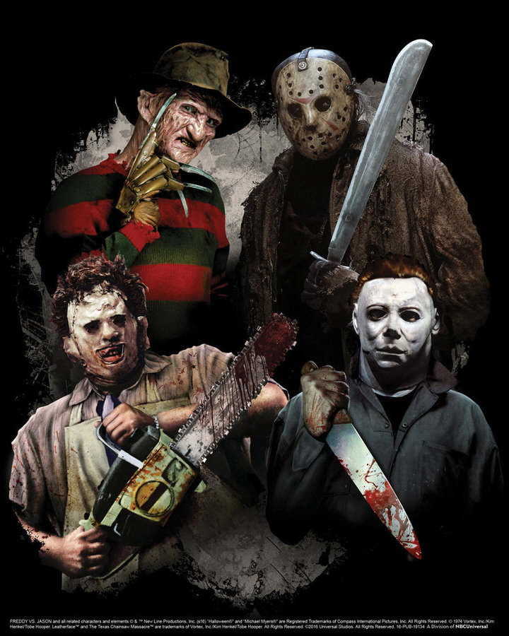 "UNIVERSAL STUDIOS HOLLYWOOD - ""Universal Studios Halloween Horror Nights"" - Pictured: ""Freddy vs. Jason,"" ""The Texas Chainsaw Massacre"" and ""Halloween"" Stab Through ""Halloween Horror Nights"" in Three All-New Disturbing Mazes - (Photo by: Universal Studios Hollywood)"