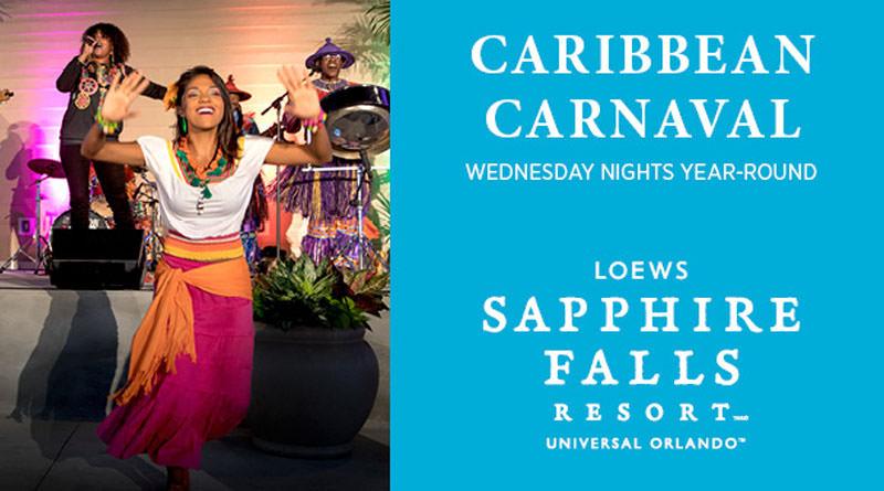 Caribbean Carnaval Coming to Loews Sapphire Falls Resort