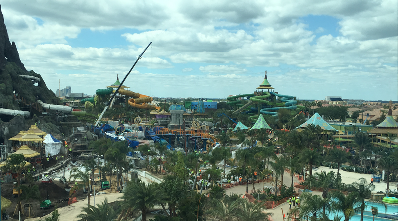 Construction Update for Volcano Bay – Photos