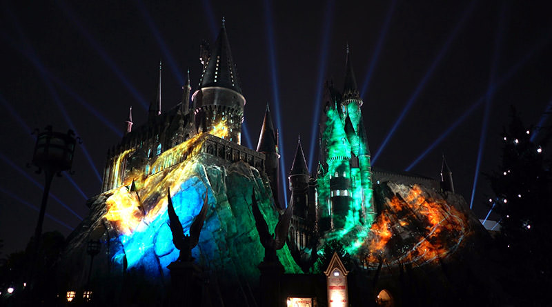 """The Nighttime Lights at Hogwarts Castle"" Lights Up Hogwarts"