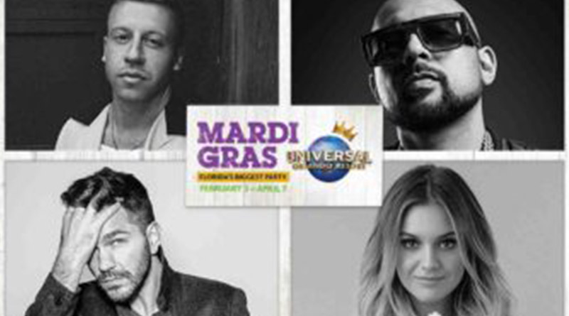 Universal Mardi Gras Performers Announced for 2018