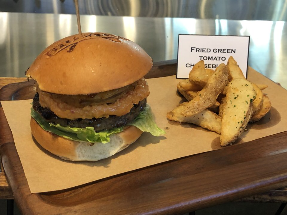Fried Green Tomato Cheeseburger - $15.00
