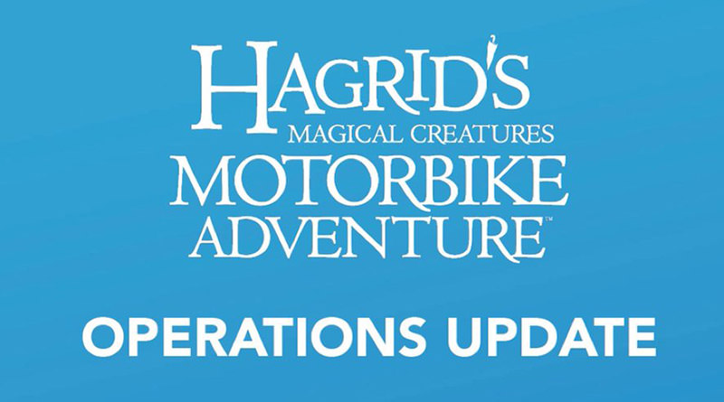 Delayed Openings will Occur at Hagrid's Magical Creatures Motorbike Adventure