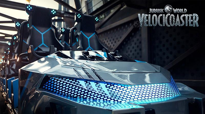 Jurassic World VelociCoaster Ride Vehicle Revealed